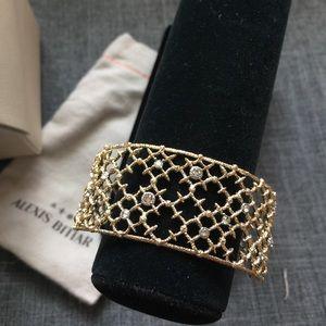 Alexis Bittar Jewelry - ALEXIS BITTAR Gold Lace Cuff w/ Swarovski Crystals
