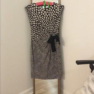 Gorgeous B&W Polka Dot Cap Sleeve Dress Size 2