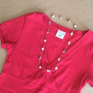 Motherhood maternity Shirt with Free Necklace