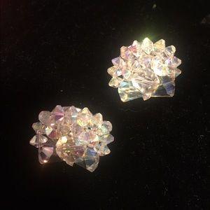 Vintage Art Deco Crystal Clip Earrings