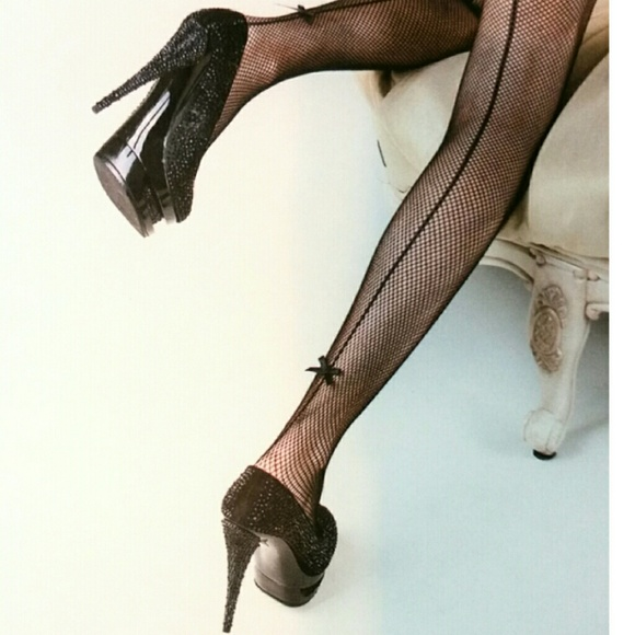 22be31542a8 Yelete Killer Legs Fishnet Pantyhose Bow Queen Sz