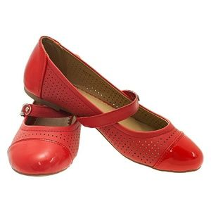 Tory K Shoes - Tory K Women Mary Jane Flats, b-1334, Red