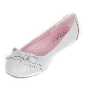 Tory Klein  Shoes - Women Ballerina Flats with bow, Grey, b-1642