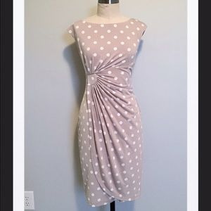 Connected Apparel Dresses & Skirts - Connected Apparel Ruched Polka Dot Dress, 4