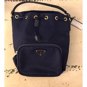 a9062e465cbefb Prada Bags | Royal Blue Tessuto Mini Bucket Bag | Poshmark