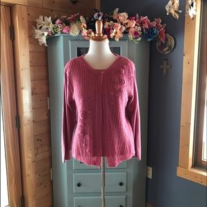 Jenny Sweaters - JENNY Sweater with Pink Pearls!  So Pretty!!