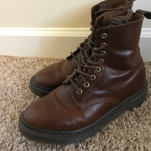 Pascal Leather Boots Brown DrMartens CedorxB