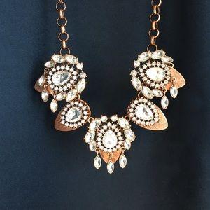 Copper statement necklace