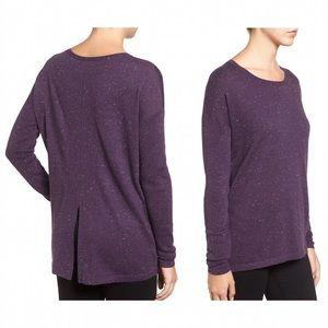 Halogen Sweaters - Halogen slit back nep yarn long sweater