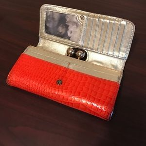 Ted Baker alligator patent wallet