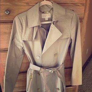 Michael Kors Khaki studded trench coat