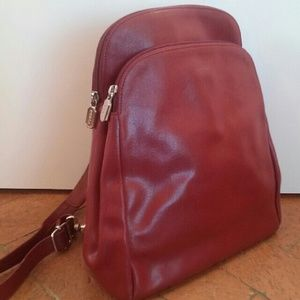 Furla Handbags - Furla Preloved Red Leather Bag