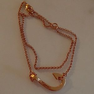 Miansai Jewelry - Miansai Mini Hook 18K Rose Gold Plated Bracelet