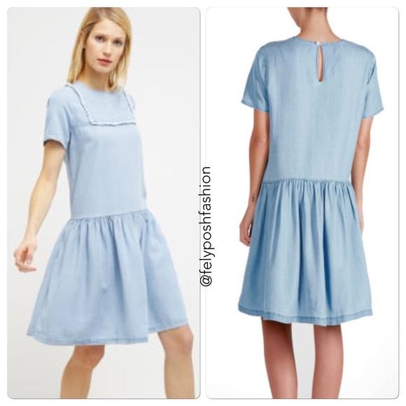 5d54837e0d0b Little White Lies Suki Chambray Shift Dress