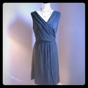 Soft and pretty gray wrap dress