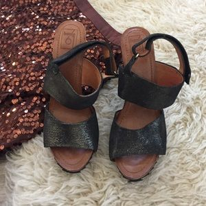 2d35ec4f50e4 Anthropologie Shoes - Bacio 61 Metallic Heel Sandals