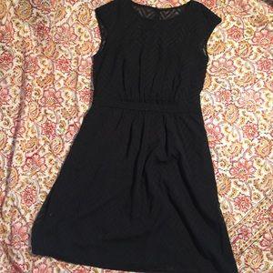 J. Crew Dresses & Skirts - J Crew Black zigzag Sleevess Chiffon Dress 6 NWT