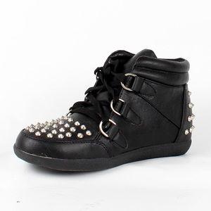 Spike studed sneakers (Katara-Black)