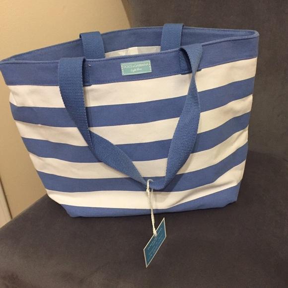 60% off Handbags - Dolce & Gabbana Light Blue beach bag from ...