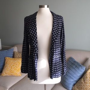 ASOS Navy Patterned Drapey Blazer