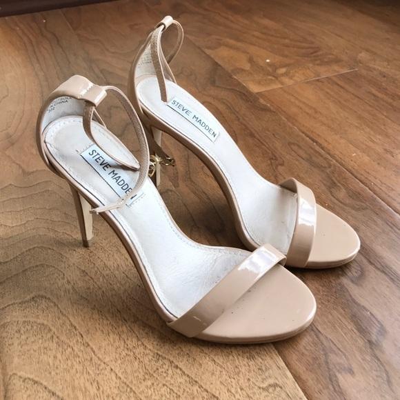 46eecbb8719 Steve Madden Stecy Blush Patent Strappy Sandal