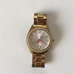 Betsey Johnson Accessories - Betsy Johnson Gold Boyfriend Watch