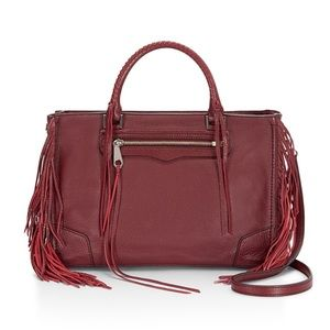 🌹 Rebecca Minkoff Fringed Regan Satchel Tote 🌹