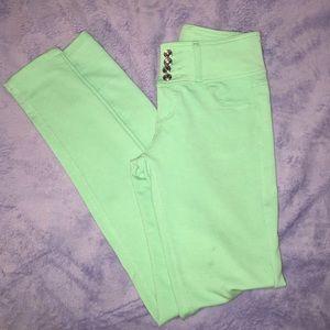 Mint Green Skinny Pants