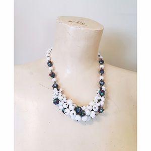 Vintage 1930s glass cluster necklace