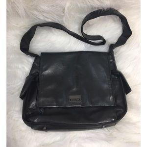 Perlina Handbags - Perlina Black Leather Handbag