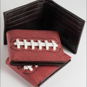 Football Wallet real football leather