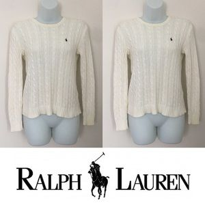 Ralph Lauren Sweaters - 🍍CLEARANCE🍍Ralph Lauren White Cable Knit Sweater