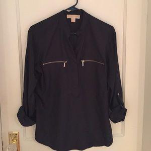 Sz Small Michael Kors navy blue blouse