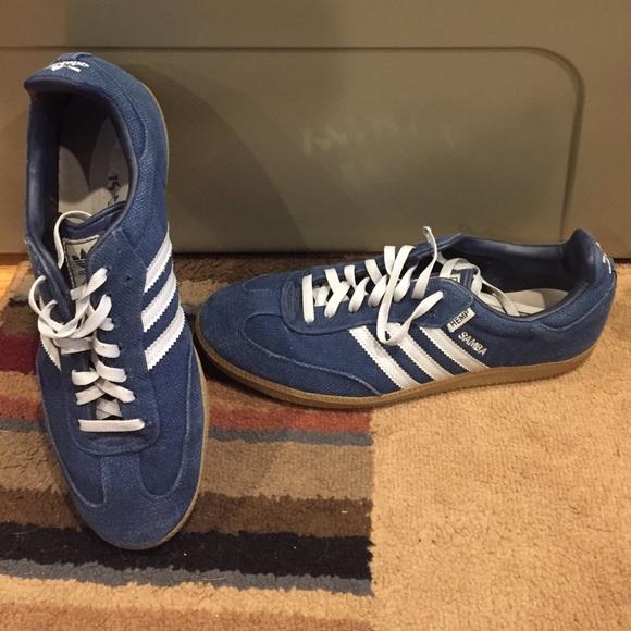 71d996189c9de9 Adidas Other - Adidas Samba Hemp Blue