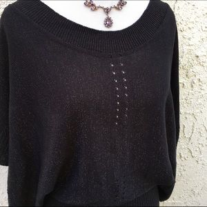 Dolce Vita Sweaters - Black & Gold Sweater Top