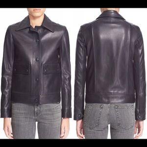 Helmut Lang Heavyweight lambskin leather jacket S