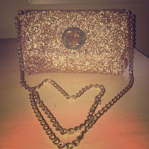 Gold Glitter Shoulder Bag
