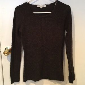 Forever 21 fuzzy brown sweater size S