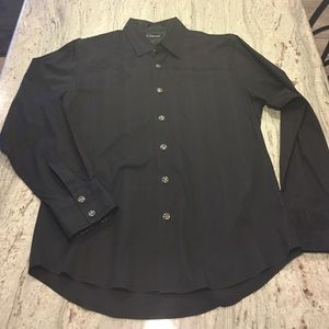 7 Diamonds Other - Black embroidered 7 diamonds long sleeve button up