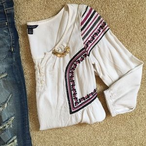 {AE} Embroidered Blouse