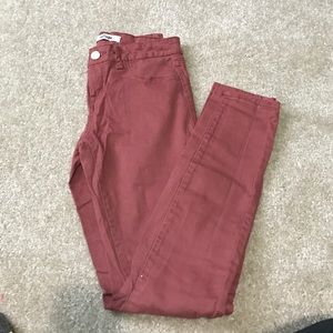 Refuge Red Skinny Jeans