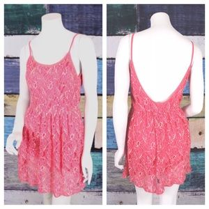 Anthropologie Dresses & Skirts - Finn & clover Anthropologie pink lace dress 👗 S