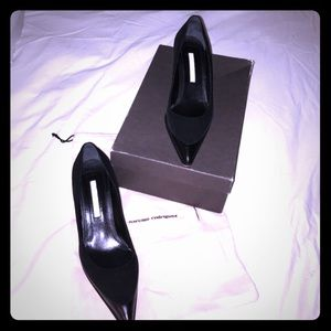 Narciso Rodriguez Shoes - Narcisco Rodriguez black suede & leather heels