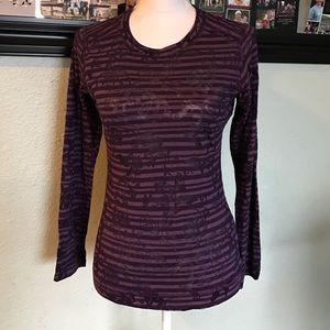 Prana Tops - Prana purple striped long sleeve