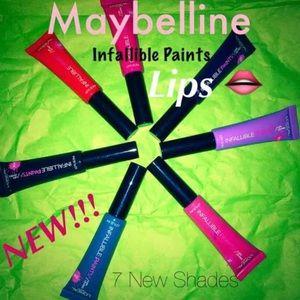 7  L'Oréal Infallible Lip Paints/ Lacquer Gloss