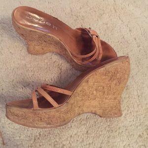 Sexy Italian cork heels from Bebe