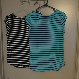 Stripped business casual shirts