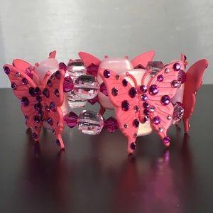 Tarina Tarantino Jewelry - Beautiful Swarovski crystal butterfly bracelet