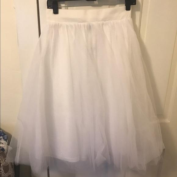 0387cf175d WINDSOR Skirts | Tea Length White Tutu Skirt Size L | Poshmark