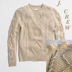 J. Crew Factory Sweaters - J. Crew Factory Beaded Cable Wool Sweater